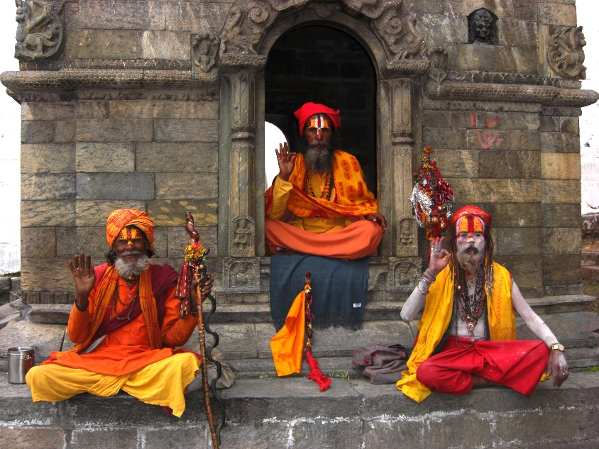 Yoguis en Katmandú