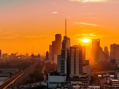 Bangkok al atardecer